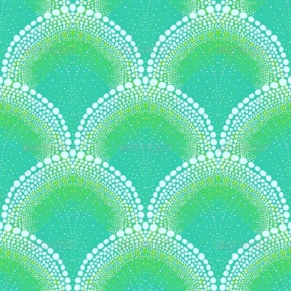 Bold Pattern in Art Deco Style in Aqua Blue - Patterns Decorative