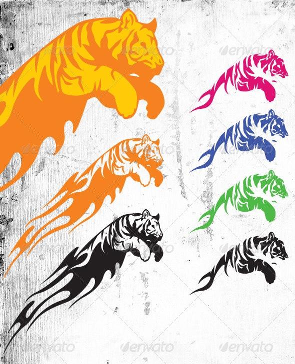 Tiger - Tattoos Vectors