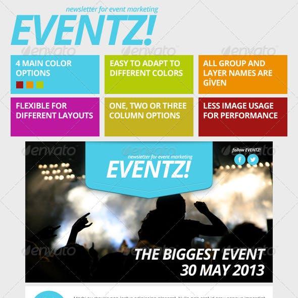 Eventz - Event Marketing Newsletter Template