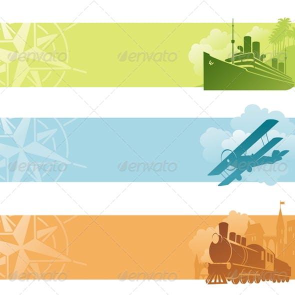 Vector Banners - Retro Transport