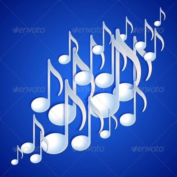 Music Note Background Design. - Backgrounds Decorative