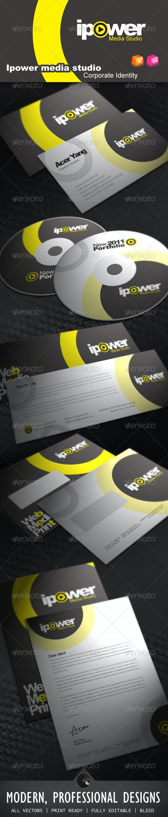 Ipower Midea Studio Corporate Identity - Stationery Print Templates
