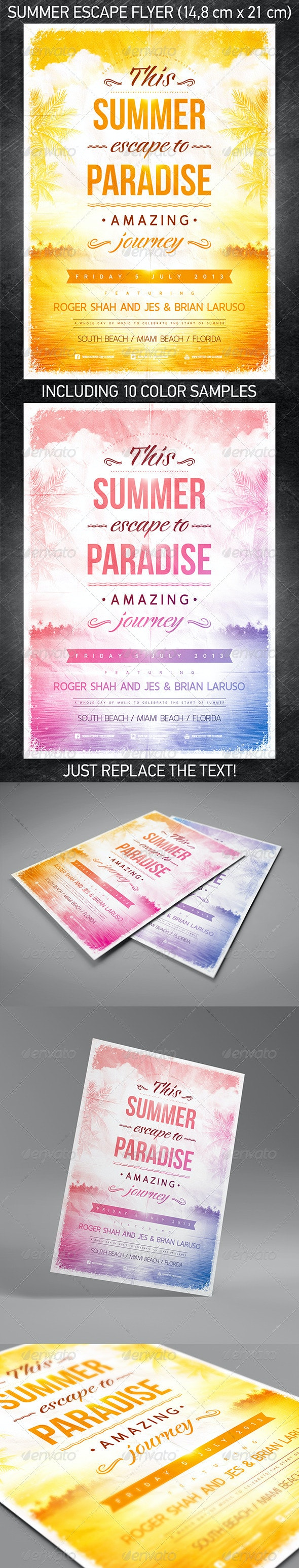 Summer Escape Party Flyer - Flyers Print Templates
