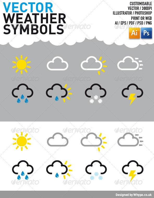 Weather Symbol Icons - Web Icons