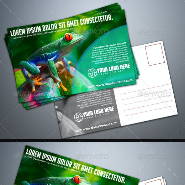 Photorealistic Postcard Mock-Up