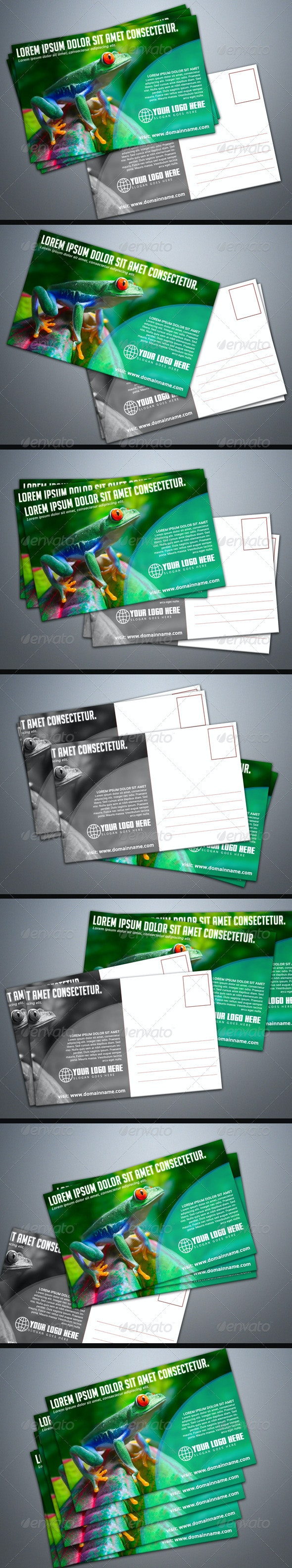 Photorealistic Postcard Mock-Up - Miscellaneous Print