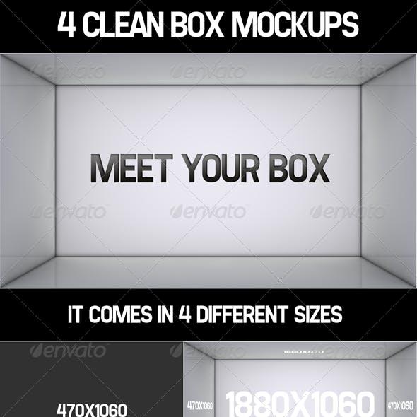 4 Clean Box MockUps