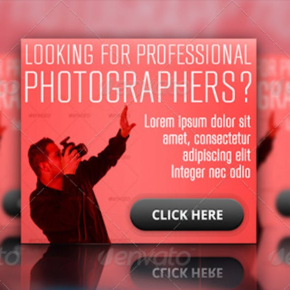 Photographer Ad Banner Set
