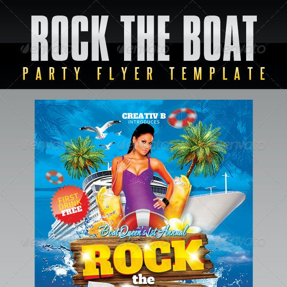 Rock The Boat Party Flyer Template