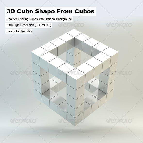 3D Cube Shape From Cubes