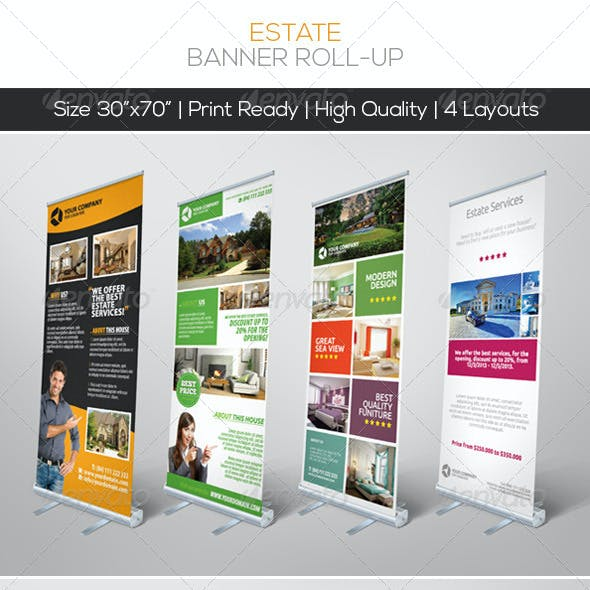 Premium Estate Banner Roll-up