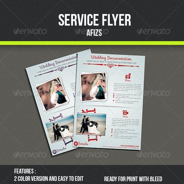 Wedding Photo Service Flyer
