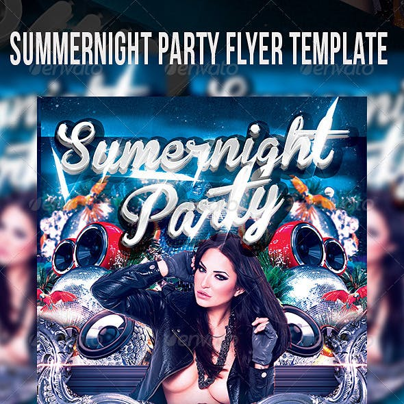 Summernight Party Flyer Template