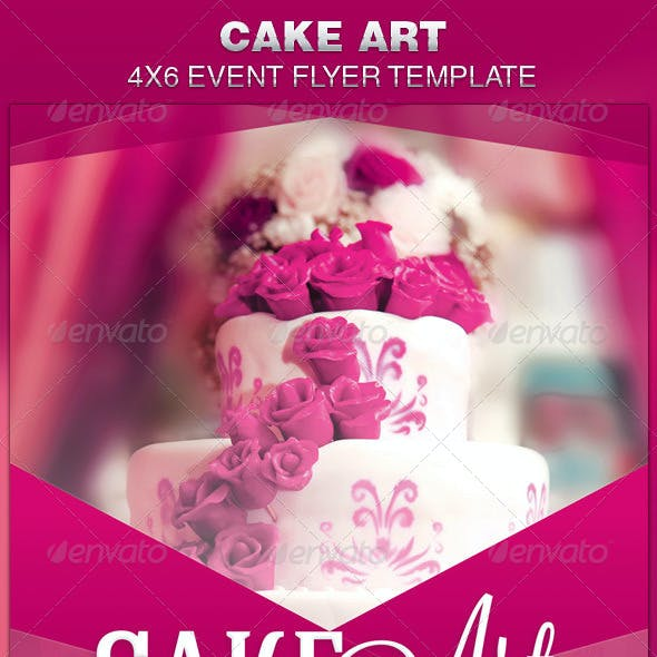 Cake Art Event Flyer Template