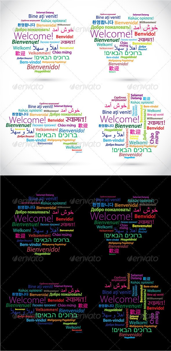 Words Welcome in Different Languages - Miscellaneous Conceptual