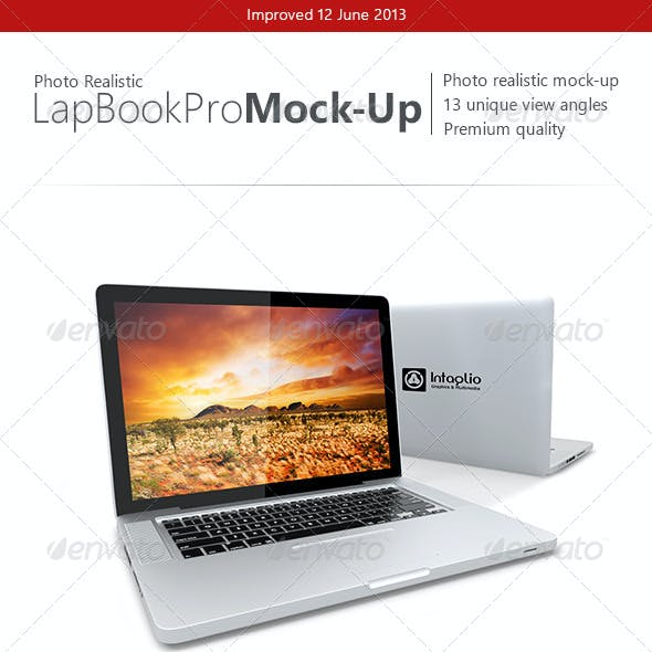 Photo-realistic Lap Book Pro Mock-Up