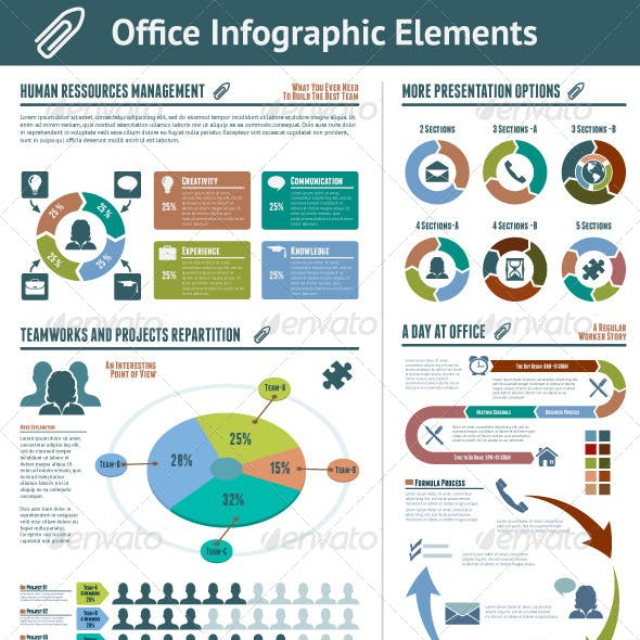 Office Infographic Elements