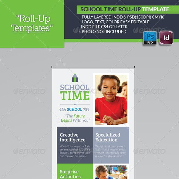School Time Roll-Up Template