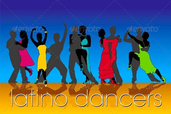 Latino Dancers Set - People Characters