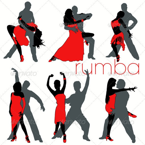 Rumba Dancers Set - People Characters