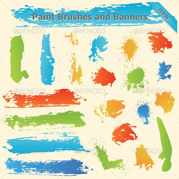 Brushes and Paint Banners