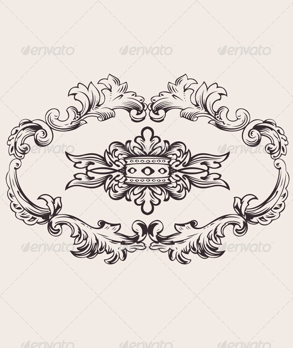 Royal Frame Decoration Vector - Retro Technology
