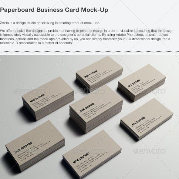 Paperboard Business Card Mock-up