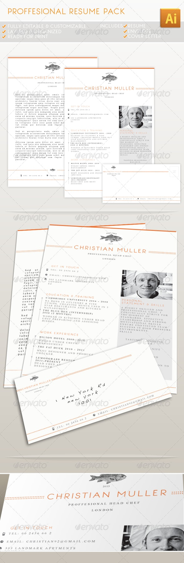 Professional Resume Pack - Resumes Stationery