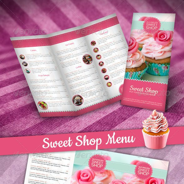 Multi-purpose Sweet Shop Tri-fold Brochure