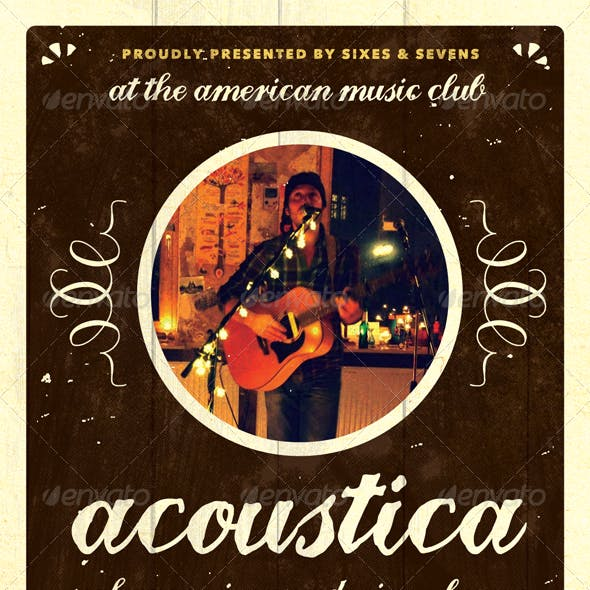 Acoustica - Acoustic Unplugged Flyer Template