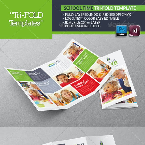 School Time Tri-Fold Template