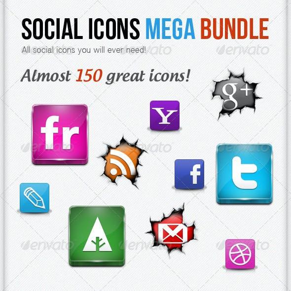 Social Icons Mega Bundle