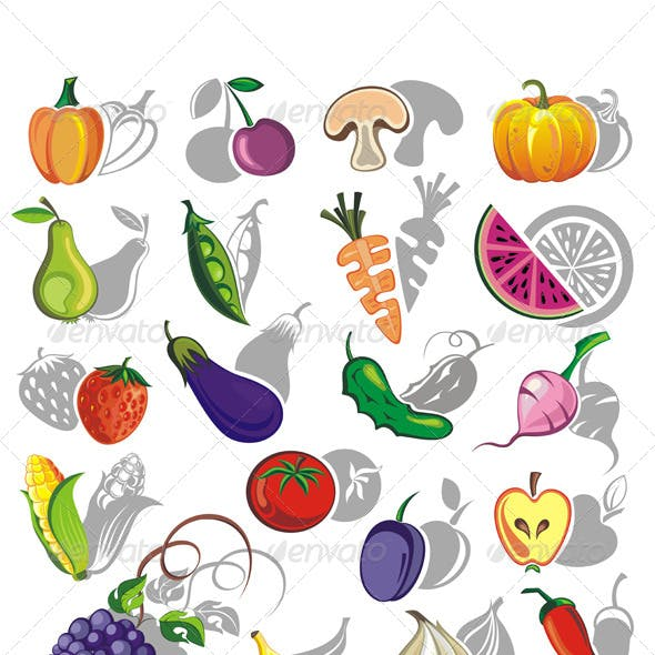 Fruits and Vegetables Vector Collection