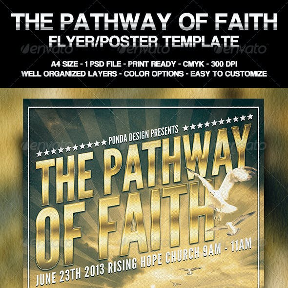 The Pathway of Faith Flyer/Poster Template