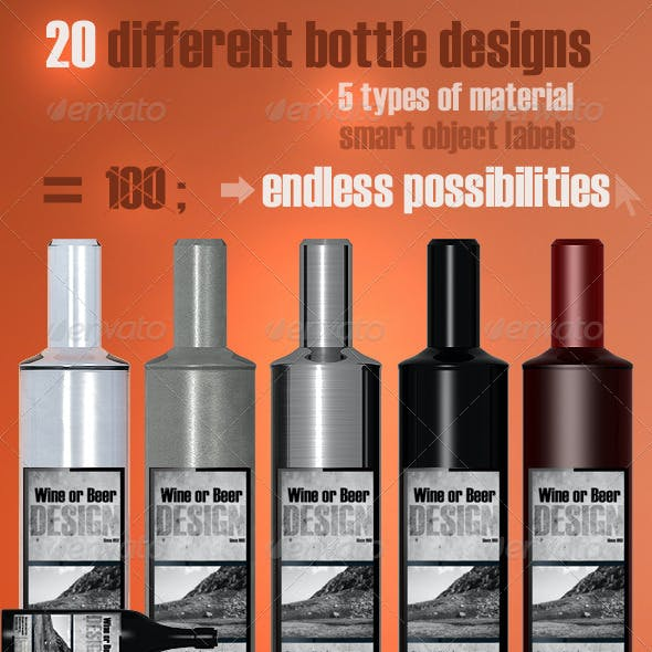 20 Bottle Designs Bundle