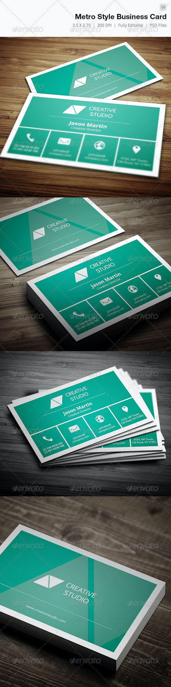 Metro Style Business Card - 08 - Creative Business Cards