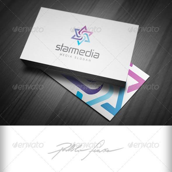 Star Media - Spiral Star - Media Ad Agency Logo