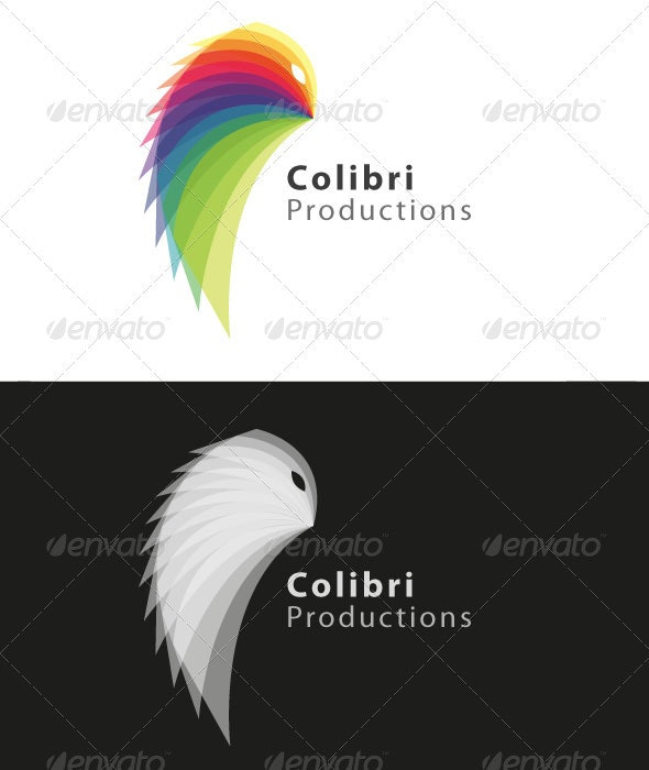 Colibri Logo Template - Colorful and Clean - Animals Logo Templates