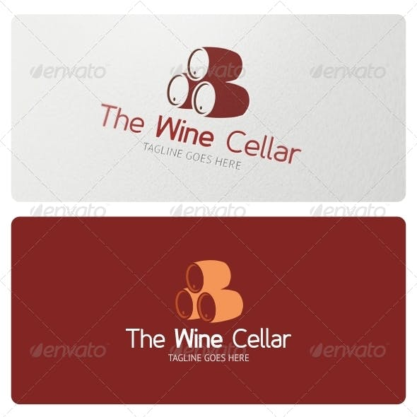 Wine Cellar Logo Template