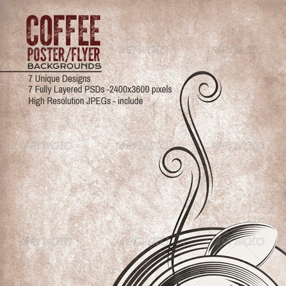 Coffee Tea Poster/Flyers Backgrounds