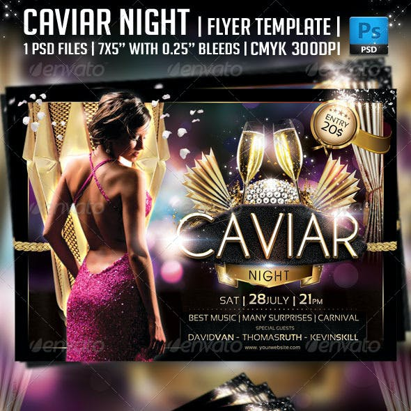 Caviar Night Flyer Template