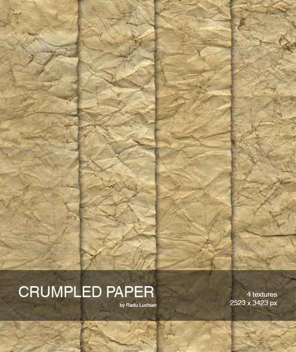 4 Crumpled Paper Textures - Paper Textures