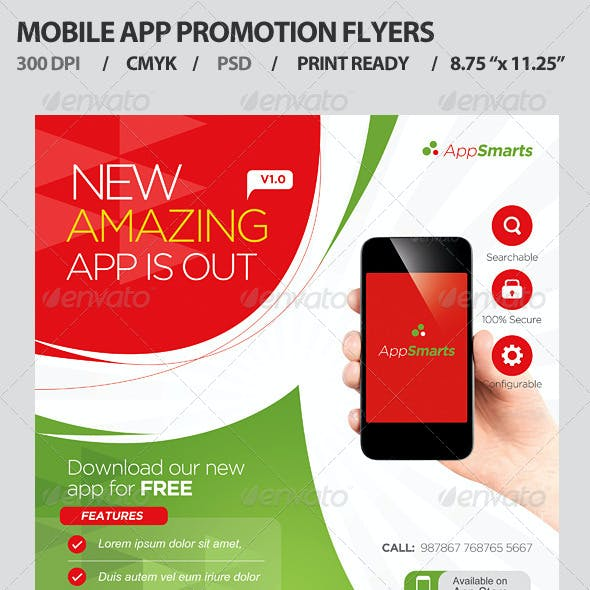 Mobile Apps Promotion Flyers
