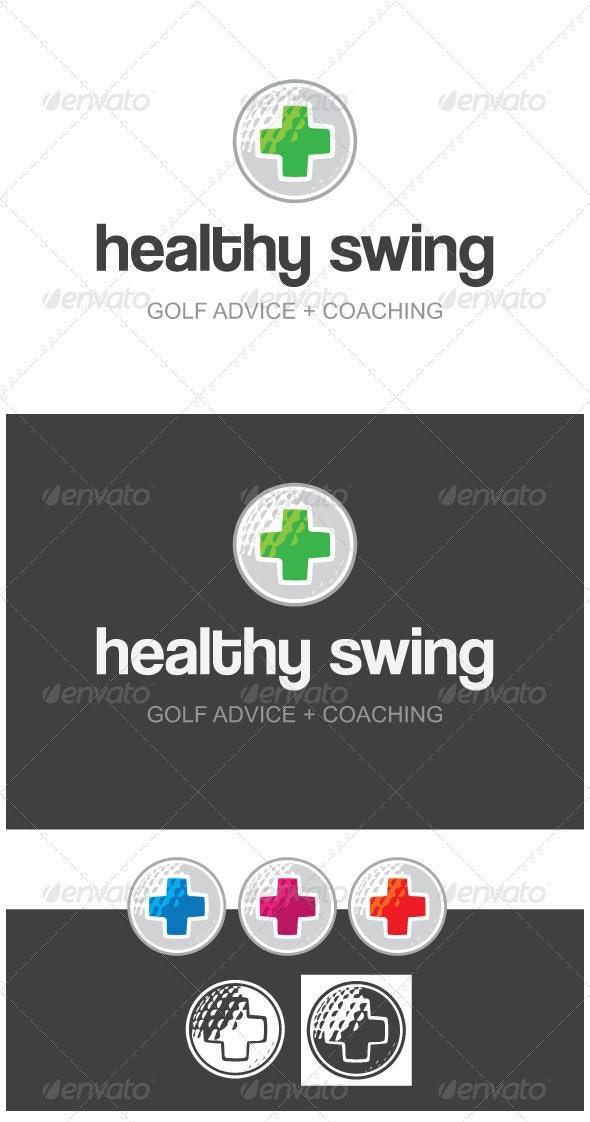 Healthy Swing Golf Advice + Coaching Logo Template - Logo Templates