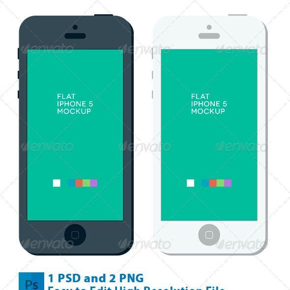 Phone 5 Flat Mockup