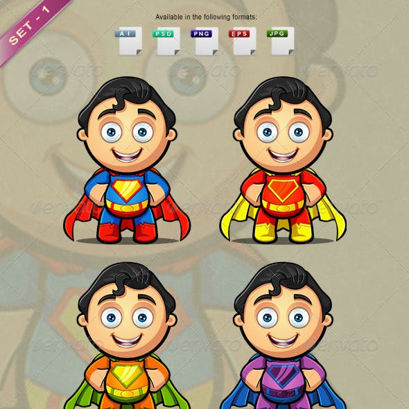 A Super Man Character - Hands On Hips