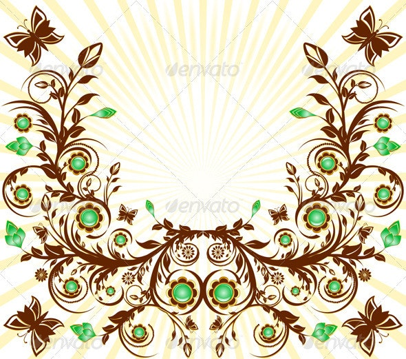Vector Illustration of a Floral Ornament - Backgrounds Decorative