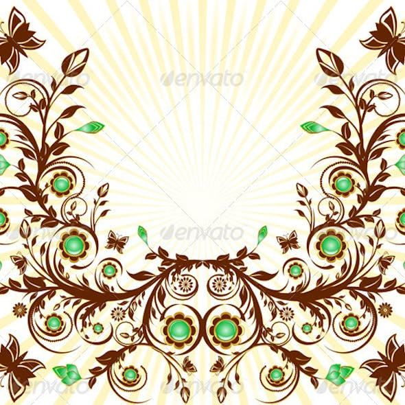 Vector Illustration of a Floral Ornament