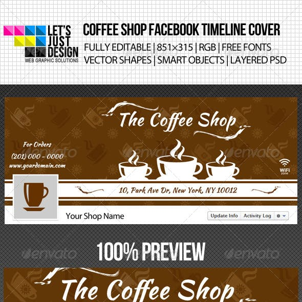Simple Coffee Shop Facebook Timeline Cover