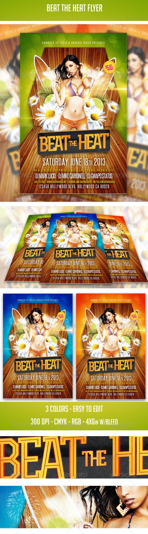 Beat The Heat Flyer - Clubs & Parties Events